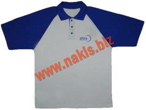 polo yaka tişört beyaz mavi